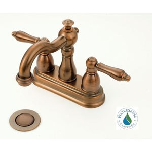 "American Brass Nickel 4""-Lavatory Faucet Old World Spout"