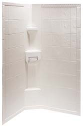 "Rv Shower Surround Hex, 34""x65"", Tile, Parchment"