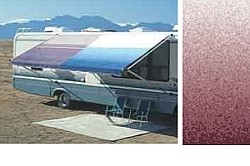 RV Carefree  Awning Replacement Fabric 16ft Burgundy Fade