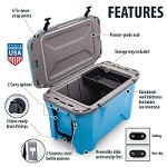 Currituck Portable Cooler, 50 Quart, Cyan