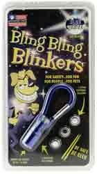 Bling Bling Blinkers- Blue\White