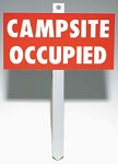 Campsite Occupied Sign