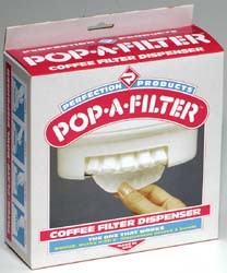 Pop-A-Filter Coffee Filter Dispenser Almond