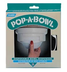 Pop-A-Bowl Dispenser White