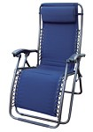 Camping Lounge Chair- Del Mar- California Blue