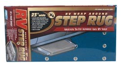 RV Wrap-Around Rv Step Rug Blue 18 inchW