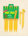 Tent Pegs - 12 inch - Yellow