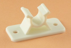Camper Door Holder Clip, Colonial White, 3""