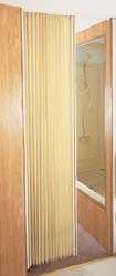 "Ivory Fabric Folding RV Door 48"" x 75"""