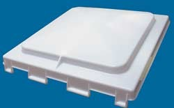 Camper Vent Lid Replacement, Jensen, Old Style, Pin Hinge, White