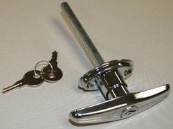 "Chrome Locking ""T"" Handle RV Lock"