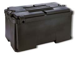 snap top battery box 6v dual end to end rv parts country. Black Bedroom Furniture Sets. Home Design Ideas