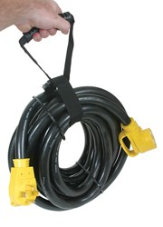 RV Extension Cord - 30' 50Amp-With Handle & Carrying Strap