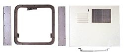 RV Water Heater Access Door Conversion Kit, Atwood to Suburban.