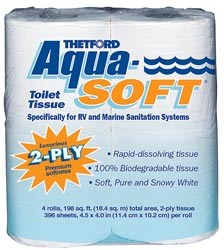 RV Toilet Tissue-2 Ply-Aqua Soft-White