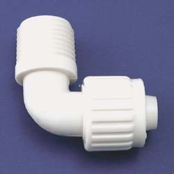 "3/4"" Flare x 1/2"" MPT Elbow Adapter*"