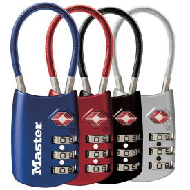Master Lock Flexible Cable Lock, Assorted Color