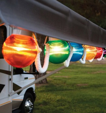 Rv Awning Globe Light Multi Color 6 Pack