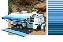 Carefree Rv Awning Replacement Fabric 19ft Ocean Blue