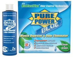RV Waste Digester & Deodorizer, Enzyme, Pure Power Blue-6-2oz. Bottles