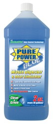 RV Waste Digester & Deodorizer, Enzyme, Pure Power Blue-64oz