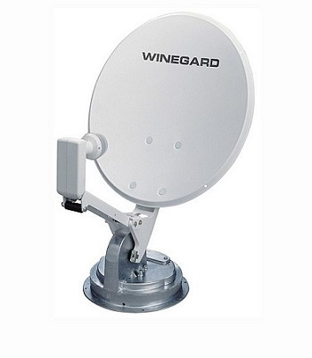 "RV Satellite Dish - 18"" -With Digital Magic-Crank Up"
