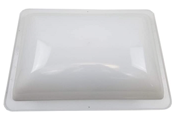 "RV Skylight Dome Rough Hole 14"" x 22"" Flange 17"" x 24"" White"