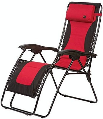 Faulkner Laguna Recliner Chair Padded Red/Black
