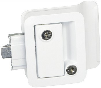 Travel Trailer Door Lock White 43610-09-SP