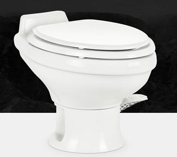 Dometic Revolution 302311681 311 Low Profile Foot Flush RV Toilet White