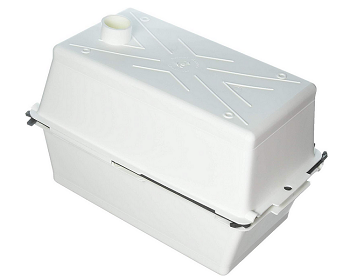 Vented Battery Box Colonial White Large