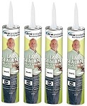 EPDM Rubber Roof System Lap Sealant, White 4 Pack