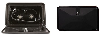 Exterior Locking Shower Box Black