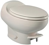 Thetford Aria Classic Low Profile Foot Flush Without Water Saver RV Toilet Bone