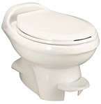 Thetford Aqua-Magic Style Plus Low Profile Without Water Saver RV Toilet Bone