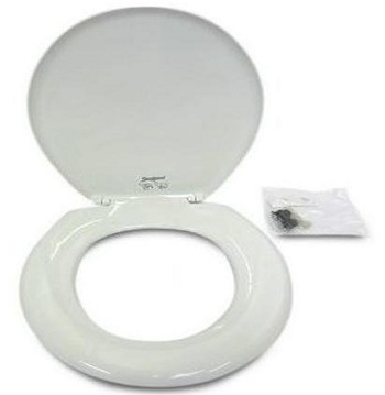 Dometic 385344088 White Traveler Lite Toilet Seat and Cover