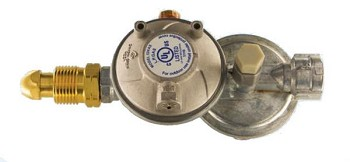 Two Stage Regulator with Excess Flow Pol Inlet Horizontal Vent